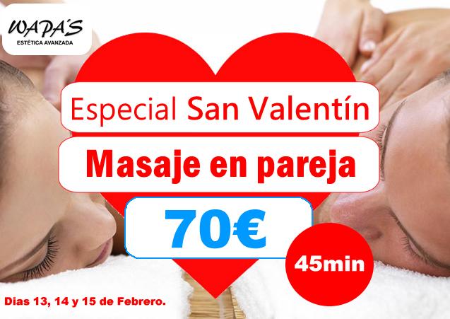 masaje pareja San Valentín
